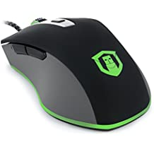 Plugable Performance Mouse with PixArt PMW 3360 Sensor for Gaming and Precision Applications - Compatible with Windows, Mac, and Linux
