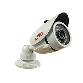REVO America RCBS30-4 1200 TVL Indoor/Outdoor Bullet Surveillance Camera with 100-Feet Night Vision (White)