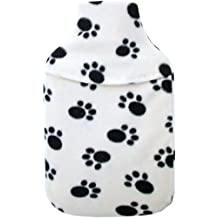 Vagabond 2L Paws Cream Hot Water Bottle and Cover