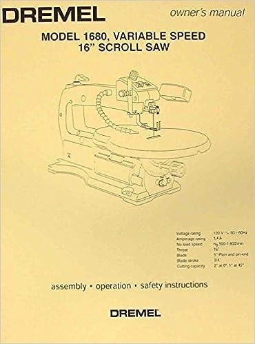 dremel wiring diagram dremel 1680 16  scroll saw operator s   parts manual misc  dremel 1680 16  scroll saw operator s