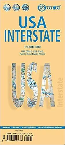 Laminated Usa Interstate Map By Borch English Edition Borch 9783866093676 Amazon Com Books