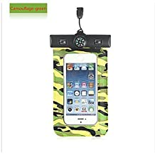 Compass Water Proof Diving Bag For iphone4 4s 5 5s Portable Outdoor WaterProof Pouch ( Color : Leaf )
