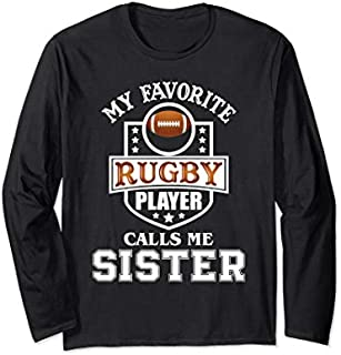 Rugby Sister  - Funny Rugby Lover Gift for Girls Long Sleeve T-shirt | Size S - 5XL