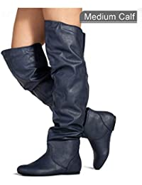 Womens Stretchy Over The Knee Slouchy Boots
