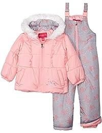 London Fog Girls Snowsuit Snowbib Puffer Jacket
