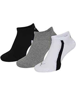 Men's & Women's 3 Pair Ring Sneaker Socks