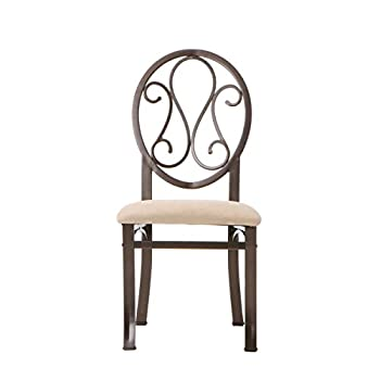 Southern Enterprises Lucianna Dining Chairs Set of 4, Dark Brown Frame Finish with Beige Suede Seat