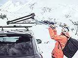 Thule SnowPack Extender Ski/Snowboard Rack, Aluminum