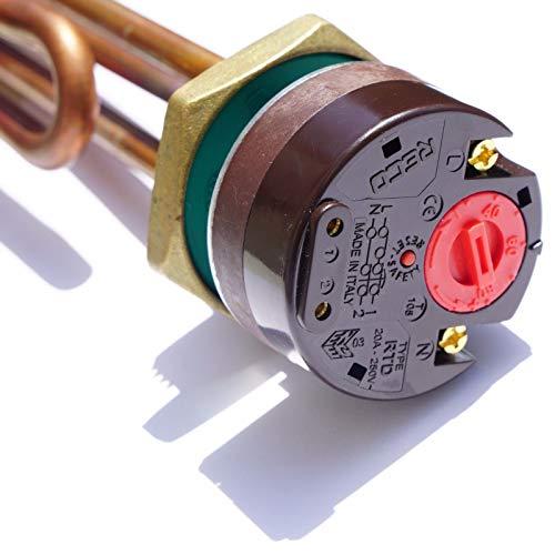 He Izelemen con termostato 1 1/4 5/4 3KW Nuevo Termostato de Seguridad Solar Caldera Caldera Caldera RECO