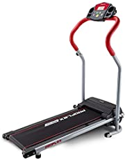 Proflex Electric Treadmill X-Strider 6-Speed Ultra Compact Electric Treadmill with 4 Training Programs, Red