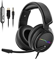Jeecoo Xiberia Stereo Gaming Headset for PS4 PS5 Xbox One S- Over Ear Headphones with Noice Cancelling Microph