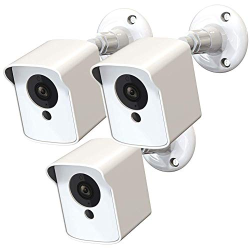 Wyze Cam V2 Outdoor Mount, Upgraded Protective Cover and 360 Degree Adjustable Wall Mount for Wyze Cam V2 Indoor Outdoor Home Security Camera(White, 3 Pack)