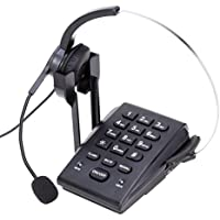 CALLANY Call Center Phone with Noise Cancellation Headset & Dialpad For Home & Office Business Corded Telephone