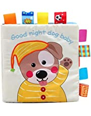 LALANG Puppy Pattern Early Education Cloth Book Baby Activity Cognition Toy