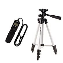 MagiDeal LCD Screen Lapse Remote Timer Shutter Release for Canon EOS +Camera Tripod