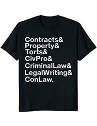 Law school courses t-shirt