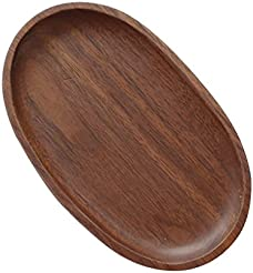 Dovewill Wooden Plate Dessert Dish Serving Wood Plates Oval Dinner Food Tableware  sc 1 st  Amazon.com & Amazon.com: Wood - Dinner Plates / Plates: Home \u0026 Kitchen