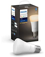 Philips Hue Philips E27 Hue White LED Smart Bulb, Bluetooth & Zigbee Compatible (Hue Hub Optional), Works with Alexa & Google Assistant