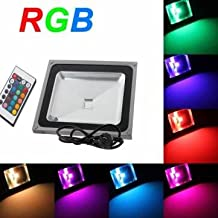 Pakhuis 50W 4000LM RGB Change Flood Outdoor Light With Remote Control 85-265V