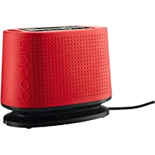 Bodum Bistro Two-Slice Pop-Up Toaster with Cool Touch Exterior (Red)