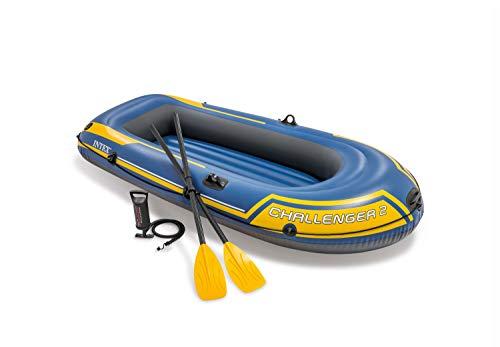 41x %2B0 kdXL Intex Challenger 2 Set Schlauchboot - 236 x 114 x 41 cm - 3-teilig - Blau / Gelb