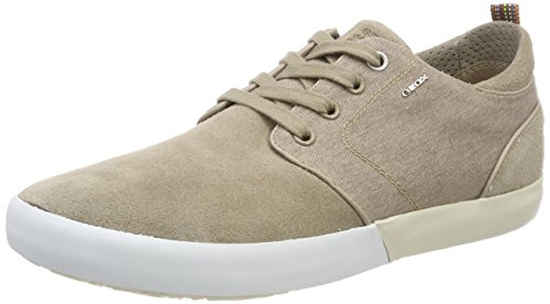 Geox Men's U Smart B Trainers, Blue Beige (Sand C5004)