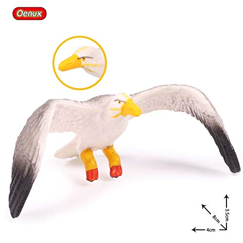 - BATOP Action Toy Figures Animals PVC   oenux Original Wild Bird Animals Paradise Flamingos Macaw sea Gull Pelican owl Toucan Figurines PVC Action Figure Miniature Toy