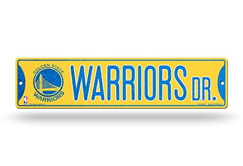 Rico Golden State Warriors NBA Bling Glitter Sparkle 16'' Street Sign by Rico