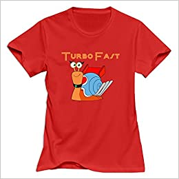 Amazon.com: Turbo Fast Logo Casual Red T Shirts For Womens Size XXL (6262388892613): Books