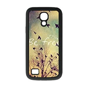 Be Free Birds Quote Protective Rubber Back Fits Cover Case for SamSung Galaxy S4 Mini i9192/i9198 WANGJING JINDA
