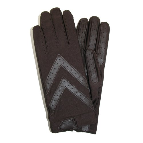 Isotoner Womens Unlined Leather Palm Driving Gloves,One s...