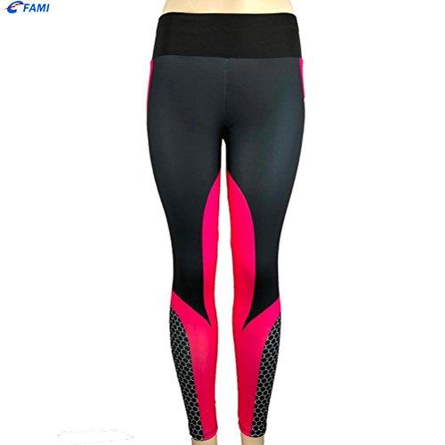 Pantalon Pantalon Yoga Violet Familizo des Sports Femmes Skinny 3D d'impression de Longue a10qggwxZB