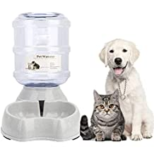 meleg otthon Automatic Pet Waterer,Pet Water Dispenser,Replenish Pet Waterer,Pet Water Dispenser Station,Automatic Gravity Water Drinking Fountain Bottle Bowl Dish Stand 1Gal(3.8L)