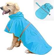 Dog Raincoat Rainwear Outdoor Waterproof Clothes Pet Fashion Reflective Strip Hoodie Adjustable Lightweight Br