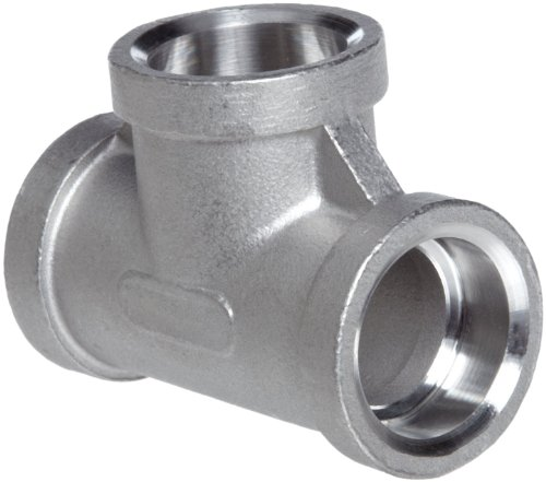 Stainless Steel 316 Cast Pipe Fitting, Tee, Socket Weld, MSS SP-114, 1/2