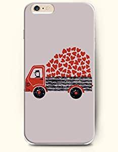 iPhone 6 Plus Case 5.5 Inches Transporting a Full Cart of Love - Hard Back Plastic Case OOFIT Authentic