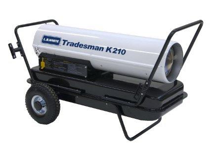 L.B. White CP210CK Tradesman K210 Portable Forced Air Kerosene Heater, 210,000 Btuh