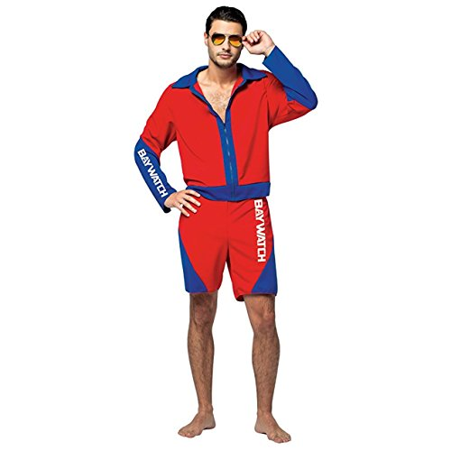 Mens Baywatch Lifeguard Halloween Costume (Baywatch Halloween Costumes)