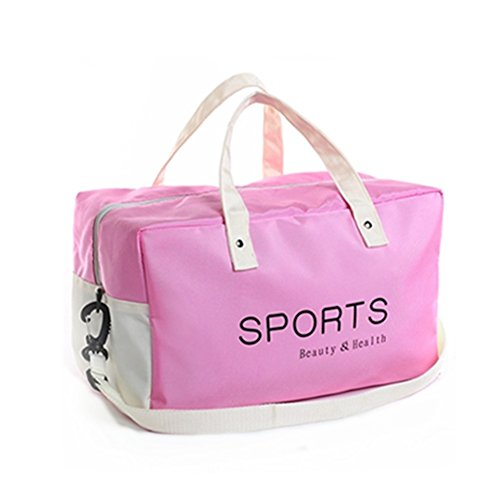 Swimming Costumes Nz (Fashion Sports Swimming Hot Spring Beach Duffle Bag ,Dry Wet Depart Bags by Rekukos (Pink))