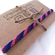 Bisexual Pride Hand Woven Anklet or Bracelet