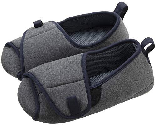 ニッポン スリッパ ルームシューズ racco 27-28.5cm ネイビー ふんわり包み込む 施設内対応 洗濯可 脱ぎ履きしやすい 310557