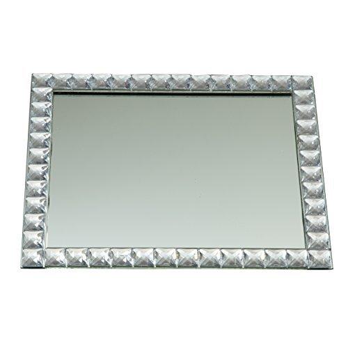 Elegance Silver Mirror Vanity Tray, 9 X 11 by Leeber