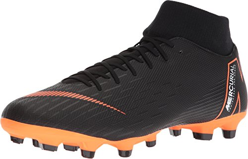 - NIKE Mercurial Superfly 6 Academy MG (Black/Total Orange) (Men's 12.5/Women's 14)