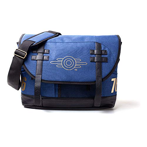 Fallout 76 Vault-tec Logo Messenger Bag, Unisex, One Size, Blue/black Mb645372fal
