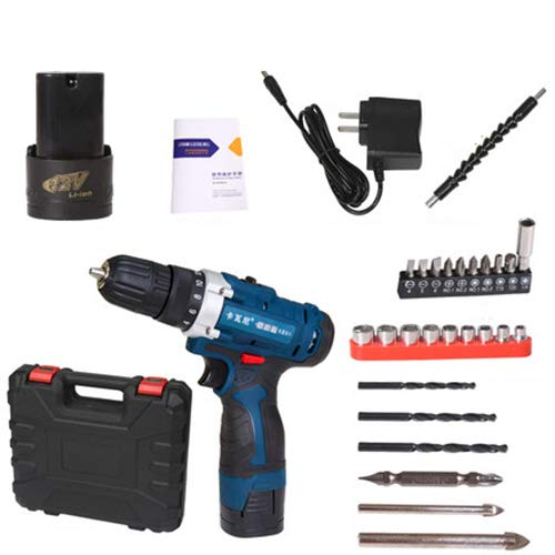 FLB 12V-25v Cordless Drill Charging Screwdriver Home Electric Rechargeable Multi-Function Flashlight Drill,16.8v1batteryaccessories
