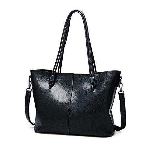 CARQI Women Top Handle Satchel Handbags Leather Ladies Shoulder Bag Messenger Tote Bag Purse by CARQI