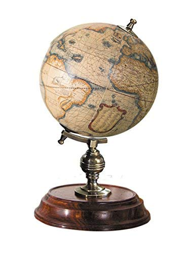 Authentic Models Desktop - Authentic Models GL042 Desktop Globe - Multi-colored & Honey Distressed French Finish