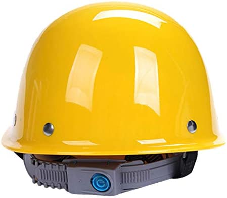 ヘッド保護 建設ヘルメットキャップスタイルのハード帽子調整可能なラチェット4 Ptサスペンションハード非換気帽子調節可能なヘルメットPPエンジニアリングヘルメ 作業安全装置 (色 : 白)