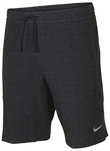 NIKE Men's Dri-Fit Touch Fleece 8 Training Shorts-Black Heather-Small
