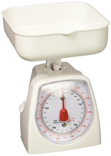 Uniware Mini Dial Kitchen Food Scale (Capacity: 5kg) (Assorted Colors: Pink, White & Yellow) No Battery [8508]